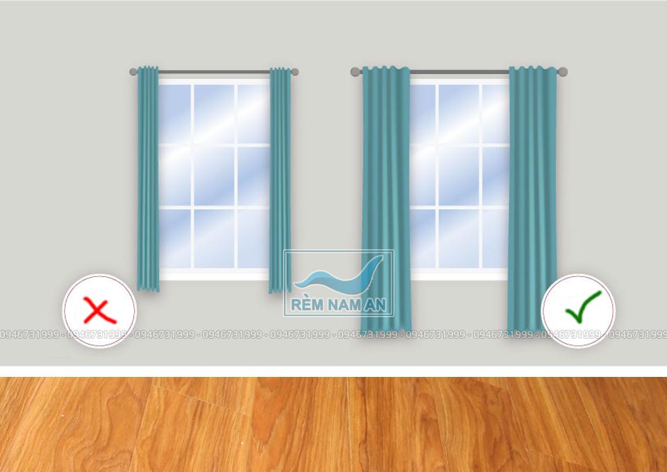 Hướng dẫn cách đo độ dài rèm vải