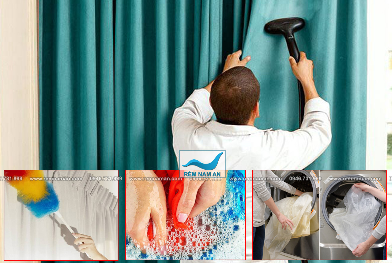 Cách giặt rèm vải và vệ sinh rèm cửa
