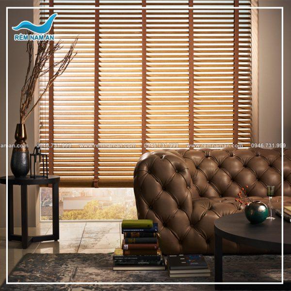 rèm gỗ phòng khách đẹp