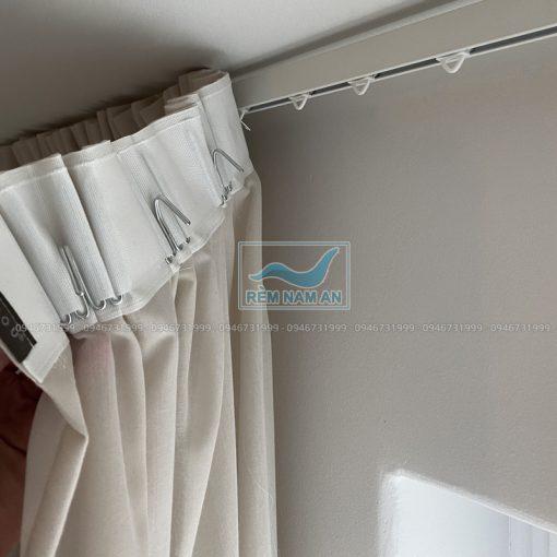 Cách thi công rèm vải treo trần