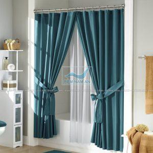 Rèm vải 2 lớp ngăn phòng tắm đẹp