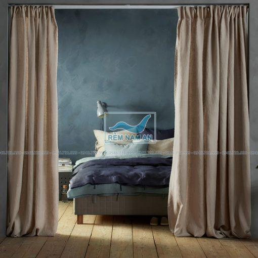 Rèm che cửa phong ngủ bằng vải