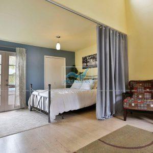 Rèm chia phòng khách ngăn phòng ngủ bằng vải