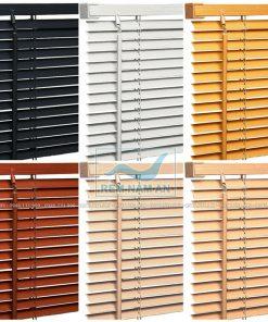 Rèm gỗ nhựa nhiều màu sắc