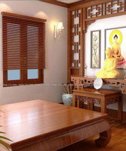 Rèm gỗ tự nhiên cho cửa sổ phòng thờ