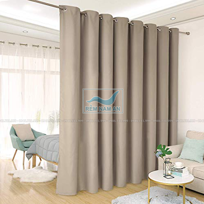 Rèm ngăn phòng ngủ bằng vải cao cấp
