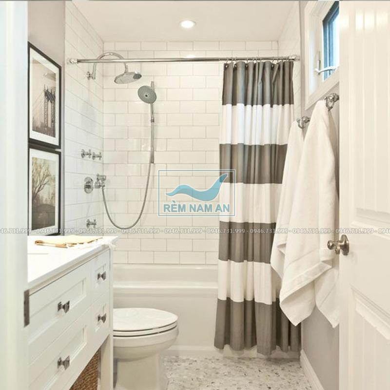 Rèm ngăn phòng tắm bằng vải đẹp