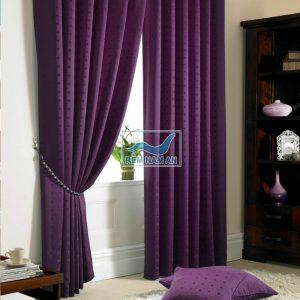 Rèm vải màu tím phòng khách
