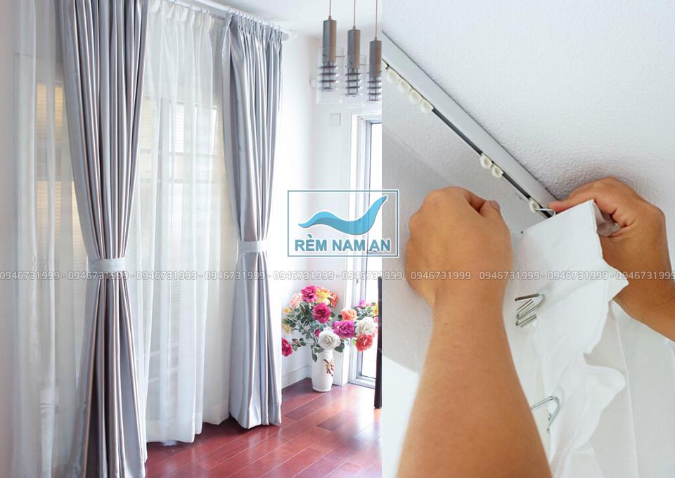 cách chọn các lớp rèm vải treo cửa