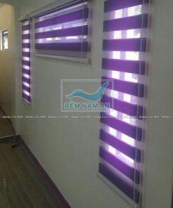 Lắp rèm cầu vồng màu tím cho cửa sổ
