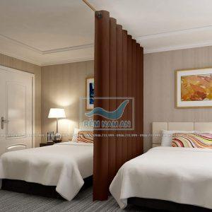 Rèm ngăn giường chia đôi phòng ngủ