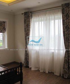 Rèm vải cửa sổ phòng ngủ gia đình đẹp