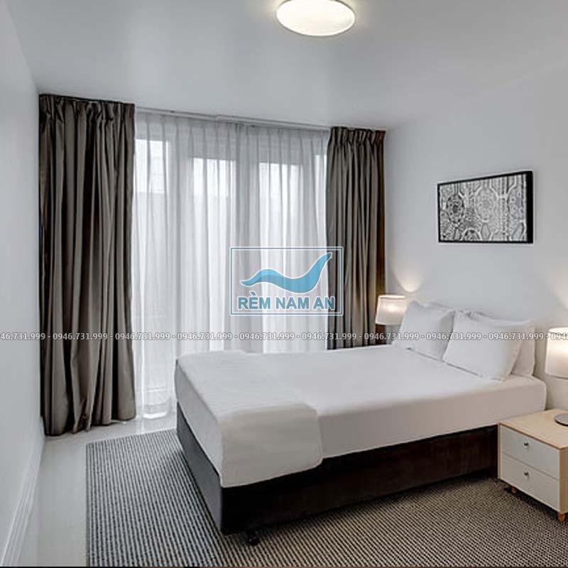 Rèm vải cửa sổ phòng ngủ khách sạn