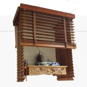 Rèm gỗ che bàn thờ treo tường chung cư