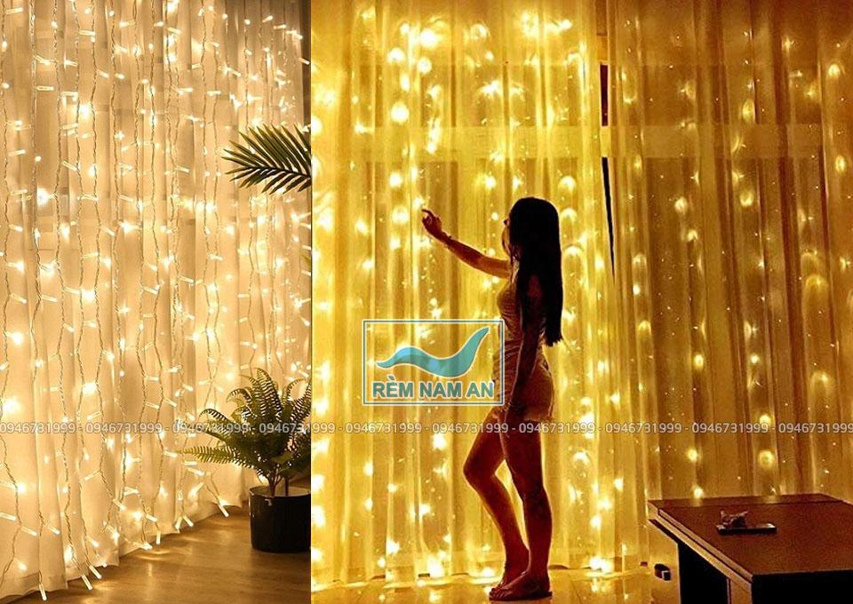 Đèn treo rèm trang trí với bóng LED đẹp
