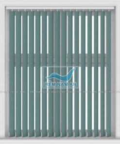 Rèm lá dọc màu xanh lục cho cửa sổ