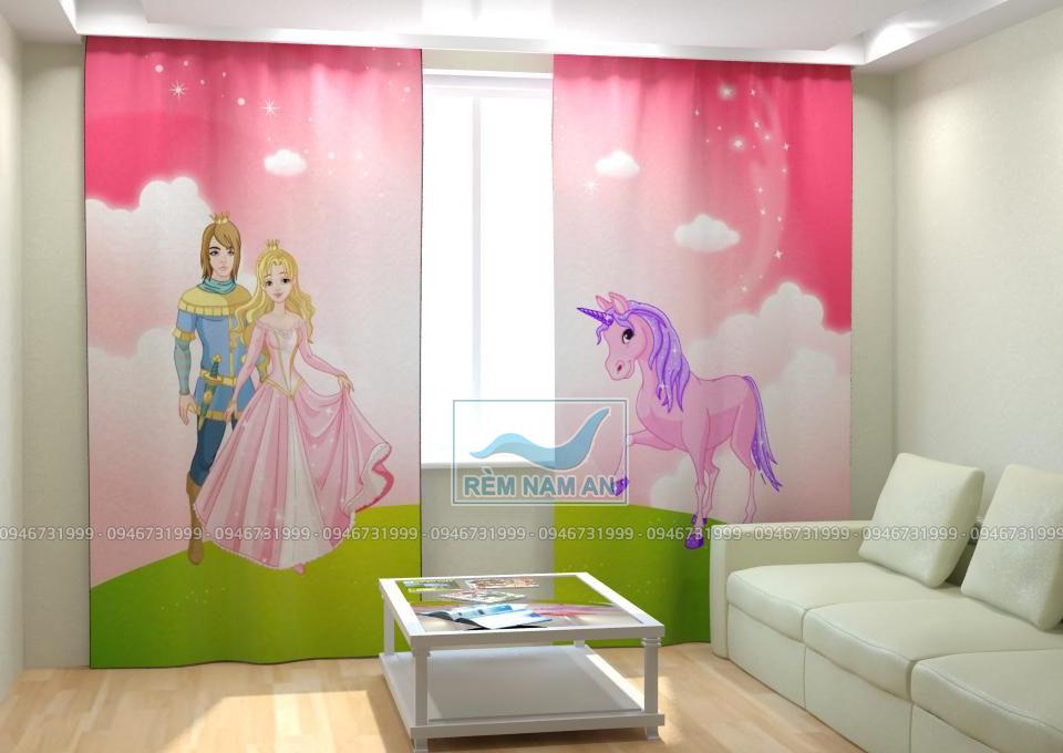 Rèm phòng trẻ em in hình đẹp