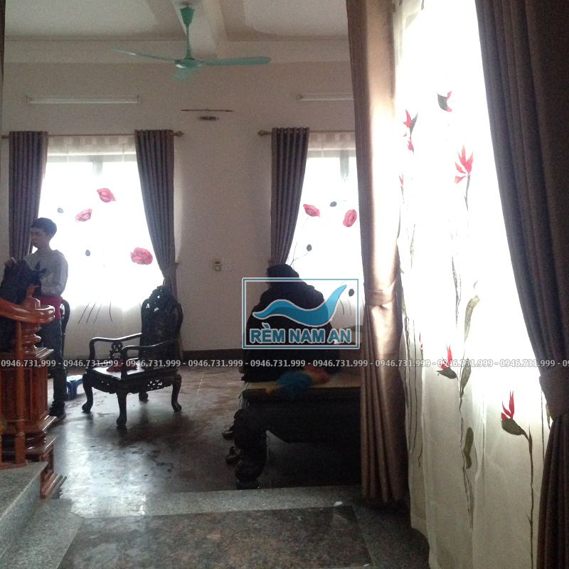 Mẫu rèm vải 2 lớp cho cửa sổ phòng khách