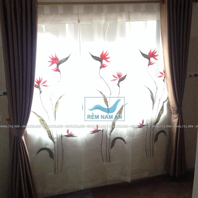 Rèm vải cửa sổ phòng khách đẹp