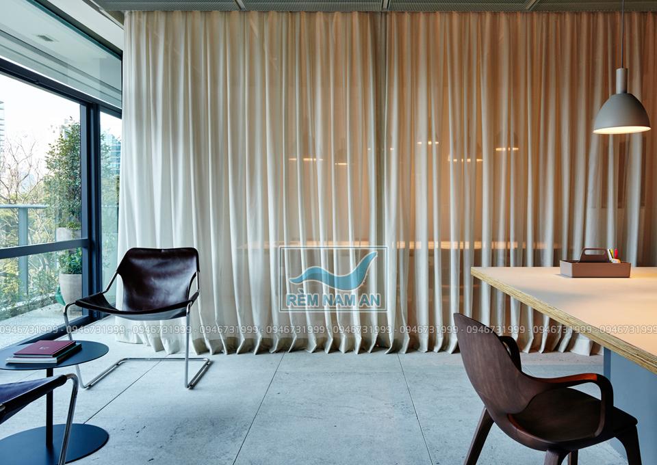 Thiết kế rèm ngăn phòng thay tường vách