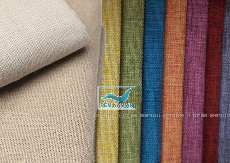 Các loại vải thô để may rèm cửa