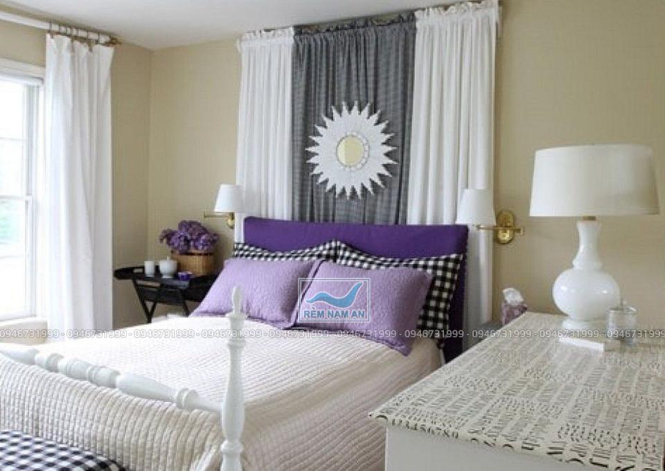 Dùng rèm trang trí phòng ngủ đẹp