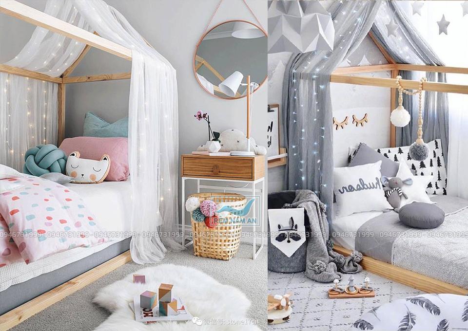 Treo rèm đầu giường để trang trí phòng ngủ